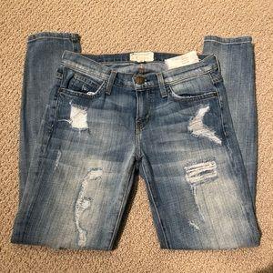 Current/Elliott Distressed Stiletto Jeans